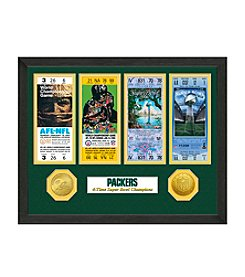 Highland Mint NFL® Green Bay Packers Super Bowl Championship Ticket Collection