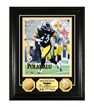 Troy Polamalu Gold Coin Photo Mint by Highland Mint