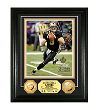 Drew Brees Gold Coin Photomint by Highland Mint