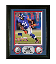 Justin Tuck Silver Coin Photo Mint by Highland Mint