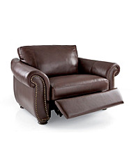 Softaly Colorado Leather/Match Recliner Chair-and-a-Half