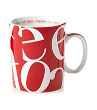 Waechtersbach Konitz Red Script Collage Mug