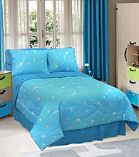 Glow in the Dark Stellar Comforter Set by Veratex®