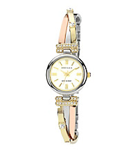 Anne Klein® Tri Tone Bangle Watch