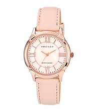 Anne Klein® Rose Gold Round Case W/Blush Strap