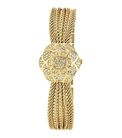 Anne Klein® Gold Covered Dial Mesh Bracelet Watch