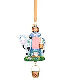 Reed & Barton® Eight-Maids-A-Milking Blown Glass Ornament