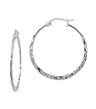 Designs by FMC Sterling Hammered Hoop Earrings