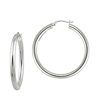 Designs by FMC Sterling Silver Polished Hoop Earrings
