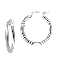 Designs by FMC Sterling Silver Polished Hoop Earrings