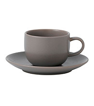 Royal Doulton® Mode Stone Espresso Cup and Saucer Set