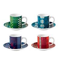 Royal Doulton® Paolozzi Set of 4 Espresso Cups and Saucers
