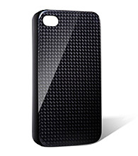 monCarbone Midnight Black Hovercoat Carbon Fiber iPhone 4/4S Case