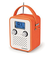 Crosley® AM/FM Portable Songbird Radio with Alarm Clock