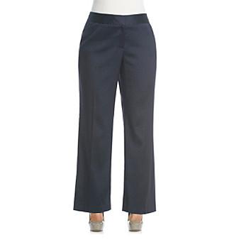 Anne Klein® Plus Size Herringbone Pant