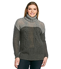 DKNY JEANS® Plus Size Cabled Tunic Sweater