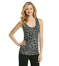Relativity® Career Pleatneck Tank