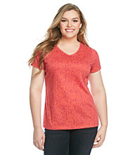 Relativity® Plus Size Printed Tee