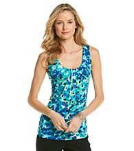 Relativity Career Petites' IVP Pleatneck Tank