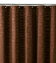 J. Queen New York Mod Chocolate Shower Curtain