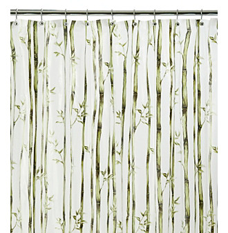 Product: J. Queen New York Bamboo Stripe Vinyl Shower Curtain Liner