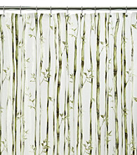 J. Queen New York Bamboo Stripe Vinyl Shower Curtain Liner