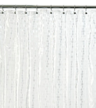 J. Queen New York Frosted Mini Tiles Embossed Shower Curtian Liner