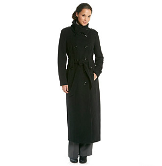 Calvin Klein Double-Breasted Long Trench Coat