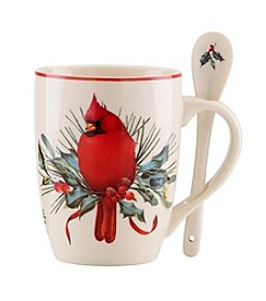Lenox® Winter Greetings® Set of 2 Cocoa Mug with Spoon