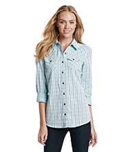 Ruff Hewn Crackle Wash Plaid Western