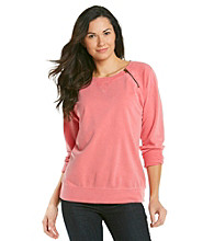 Ruff Hewn Side-Zip French Terry Pullover