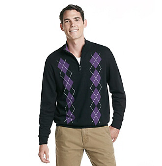 PGA Tour® Men's Quarter Zip Argyle Sweater