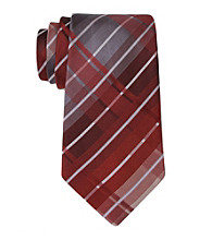 Kenneth Cole® Men's Burgundy Monroe Grid Tie