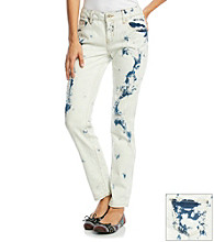 Wallflower Vintage Juniors' Bleached Out Skinny Jeans