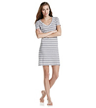 Jockey® Eggplant Stripe Knit Short Sleeve Sleepshirt