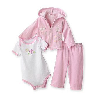 Baby Essentials® Baby Girls' Pink 3-pc. Jog Set