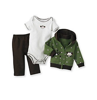 Baby Essentialsreg; Baby Boys' Green 3-pc. Jog Set
