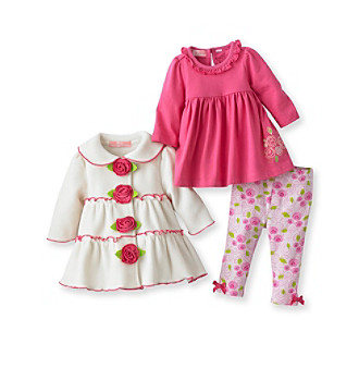 Kids Headquarters® Baby Girls' Pink 3-pc. Jacket Set