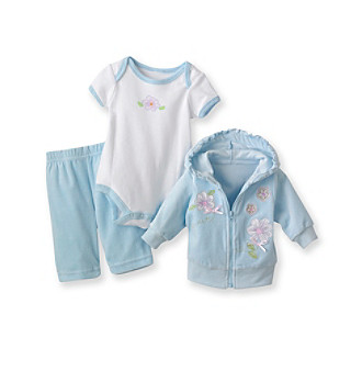 Baby Essentials® Baby Girls' Aqua 3-pc. Jog Set