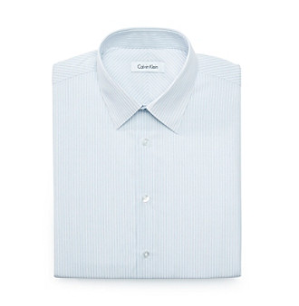 Calvin Klein Men's Stream Blue Stripe Dress Shirt