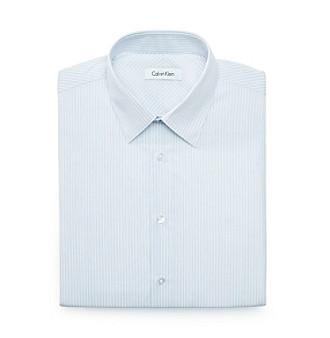 Calvin Klein Men's Stream Blue Stripe Dress Shirt