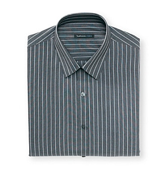 Van Heusen® Men's Onyx Grey Stripe Dress Shirt