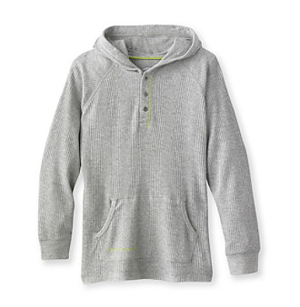 Calvin Klein Jeans® Boys' 8-20 Grey Long Sleeve Thermal Hoodie Tee