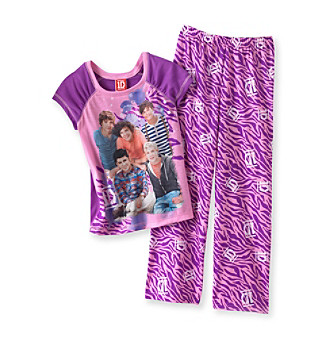 One Direction Girls' 4-14 Purple 2-pc. Zebra Pajamas Set