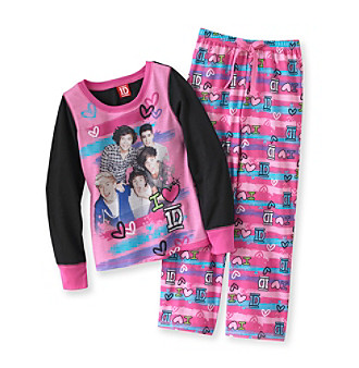 "One Direction Girls' 4-14 Pink 2-pc. ""I Love 1D"" Pajamas Set"