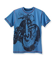 Ruff Hewn Boys' 8-20 Blue Lotus Short Sleeve Graphic Tee