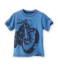 Ruff Hewn Boys' 2T-7 Blue Lotus Short Sleeve Graphic Tee