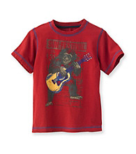 Ruff Hewn Boys' 2T-7 India Red Short Sleeve Graphic Tee