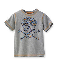 Ruff Hewn Boys' 2T-7 Grey Heather Short Sleeve Graphic Tee