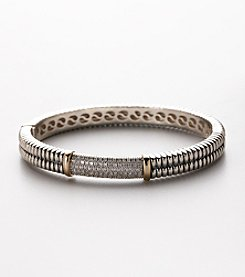 .20 ct. t.w. Diamond Braided Bangle Bracelet 7
